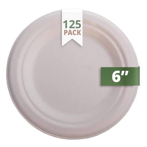 "CaterEco Natural Bagasse 6"" Plate"