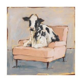 Porch & Den Ethan Harper 'Moo-ving In II' Canvas Art