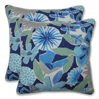 Catching Rays Cobalt 16.5-inch Throw Pillow (Set of 2)