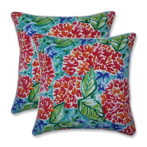 Garden Blooms Multi 18.5-inch Throw Pillow (Set of 2)