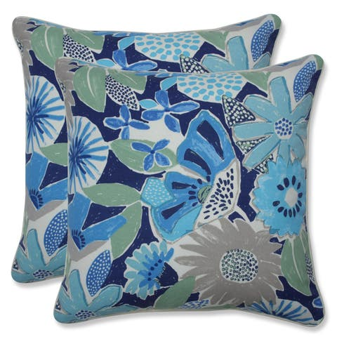 Catching Rays Cobalt 18.5-inch Throw Pillow (Set of 2)