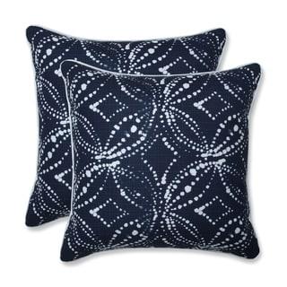 Gerardo Italian Denim 18.5-inch Throw Pillow (Set of 2)