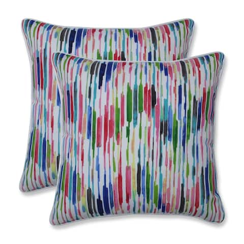 Drizzle Summer 16.5-inch Throw Pillow (Set of 2)