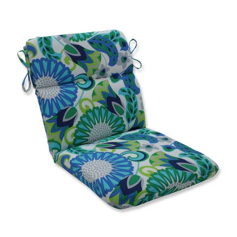 Sophia Turquoise/Green Rounded Corners Chair Cushion