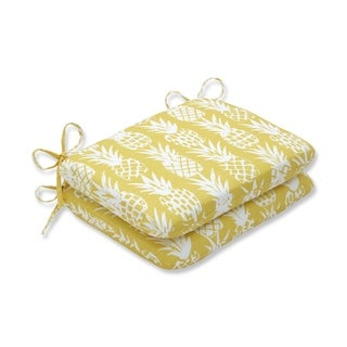 Pineapple Pineapple Rounded Corners Seat Cushion (Set of 2)