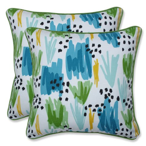 Flicker Seaglass 16.5-inch Throw Pillow (Set of 2)