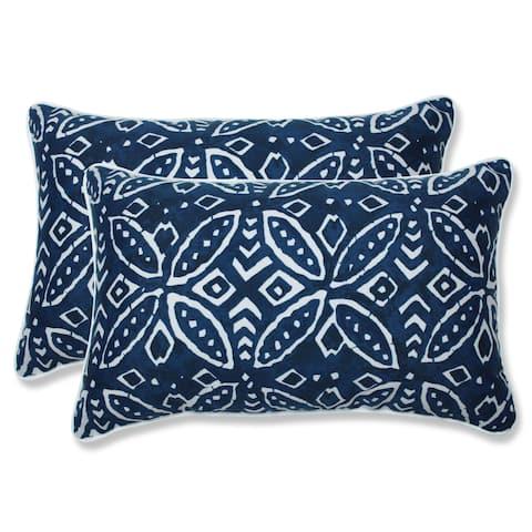 Merida Indigo Rectangular Throw Pillow (Set of 2)