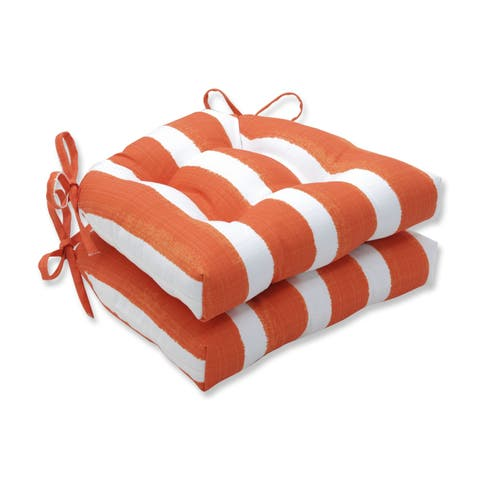 Porch & Den Lakeview Abstract Cabana Stripe Reversible Chair Pad (Set of 2)
