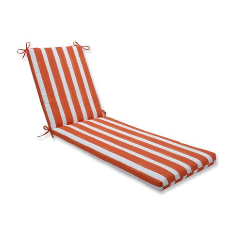 Porch & Den Lakeview Abstract Cabana Stripe Chaise Lounge Cushion