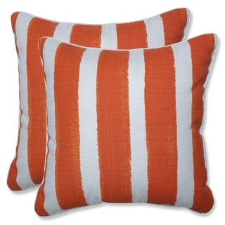 Porch & Den Lakeview Abstract Cabana Stripe 18.5-inch Throw Pillow (Set of 2)