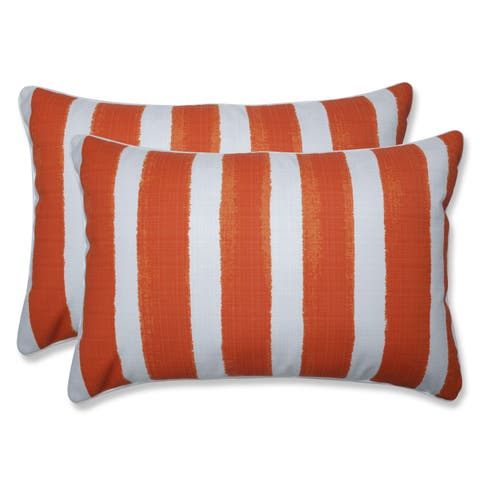 Porch & Den Lakeview Abstract Cabana Stripe Over-sized Rectangular Throw Pillow (Set of 2)