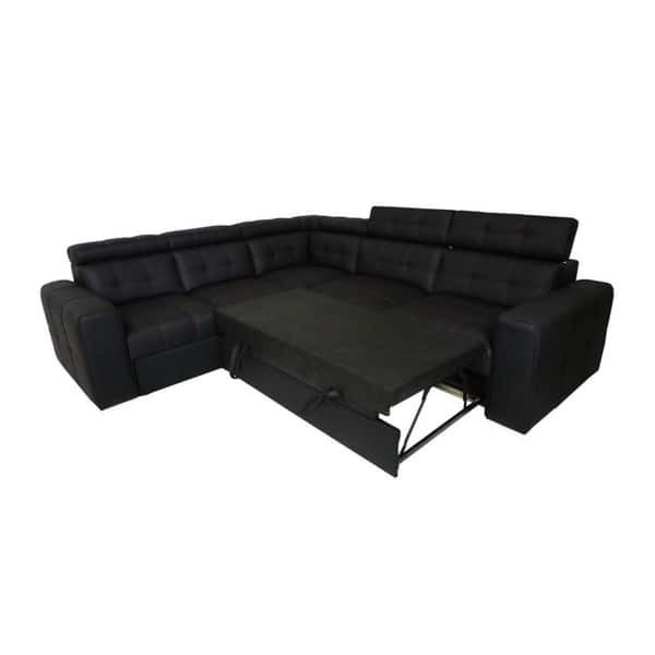 Excellent Shop Cyrus 1 Sectional Sleeper Sofa Free Shipping Today Gmtry Best Dining Table And Chair Ideas Images Gmtryco