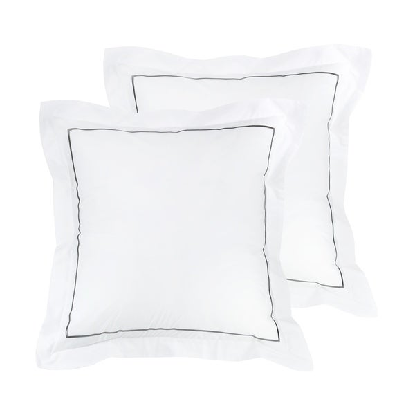 300 Thread Count Cotton Percale Single Marrow Embroidered Sham Cover Set