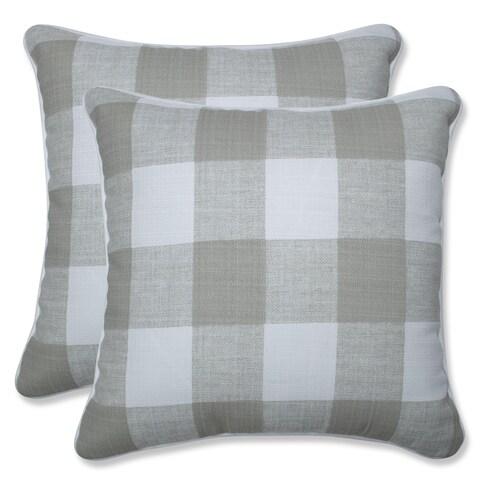 The Gray Barn Windy Kline Buffalo Check 16.5-inch Throw Pillow (Set of 2)