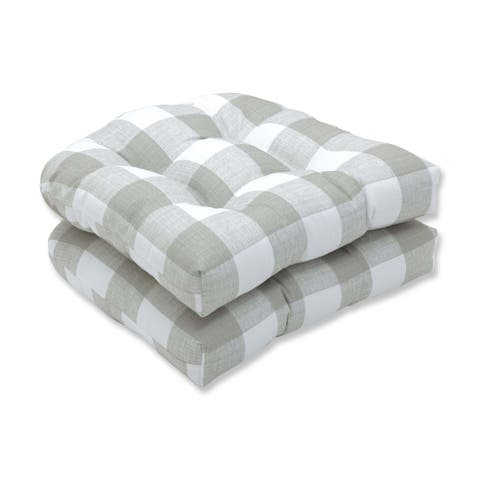Boulder Bay Buffalo Check Wicker Seat Cushion (Set of 2) by Havenside Home