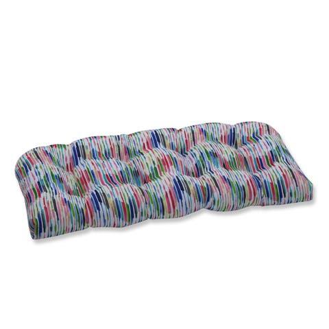 Drizzle Summer Wicker Loveseat Cushion