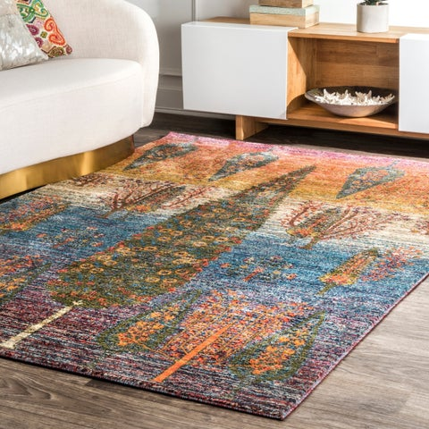Porch & Den Mickey Bohemian Ombre Abstract Tree Area Rug