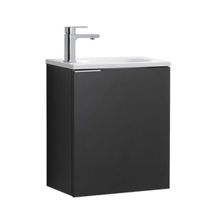 "Fresca Valencia 20"" Black Wall Hung Modern Bathroom Vanity"