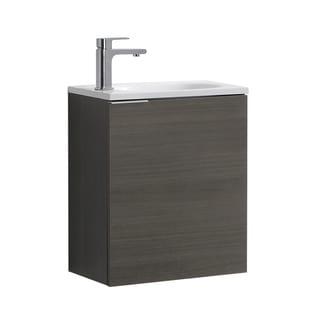 """Fresca Valencia 20"""" Gray Oak Wall Hung Modern Bathroom Vanity"""