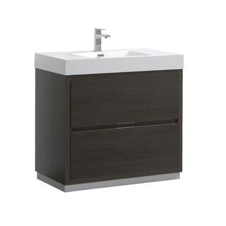 "Fresca Valencia 36"" Gray Oak Free Standing Modern Bathroom Vanity"
