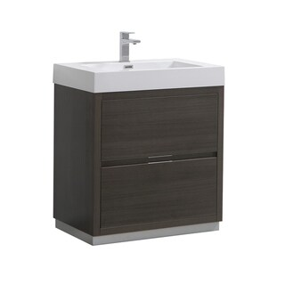 "Fresca Valencia 30"" Gray Oak Free Standing Modern Bathroom Vanity"