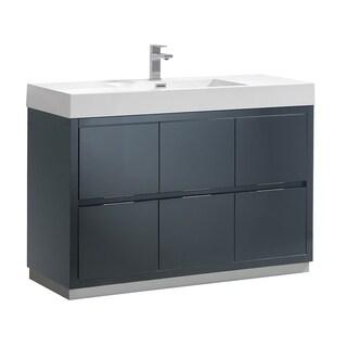 "Fresca Valencia 48"" Dark Slate Gray Free Standing Modern Bathroom Vanity"
