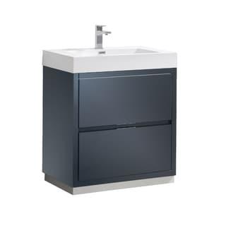 "Fresca Valencia 30"" Dark Slate Gray Free Standing Modern Bathroom Vanity"