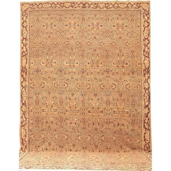 Antique Agra Wool Oversize Area Rug 18'4''x31'7'' - 18' x 32'