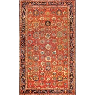 Antique Sultanabad Oversize Wool Area Rug 12'8''x23'11'' - 13' x 24'