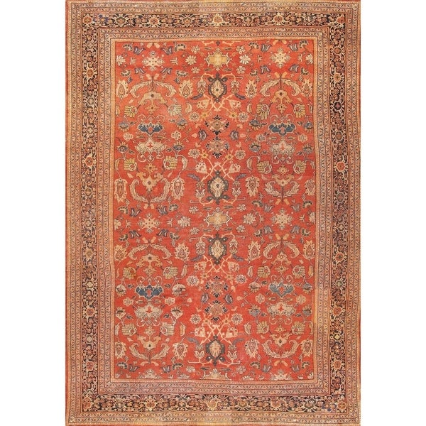 "Antique Sultanabad Oversize Wool Rug 13'4""x19'4"" - 13' x 19'"