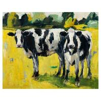 Dairy Farm Cows III by Cale Payson Wrapped Canvas Painting Art Print