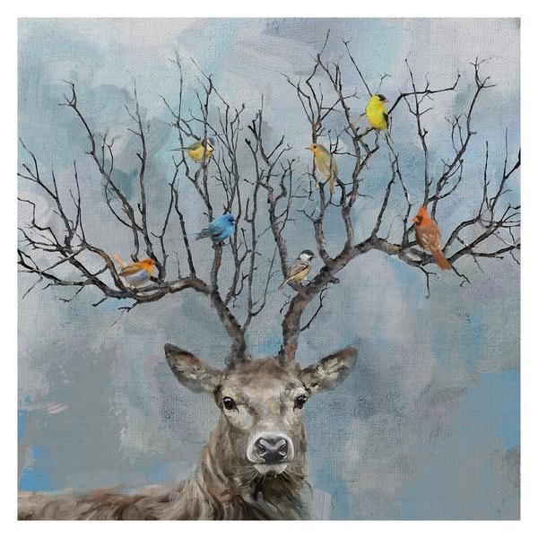 Masterpiece Art Gallery Nearest & Dearest Birds, Deer by Studio Arts Canvas Art Print. Opens flyout.