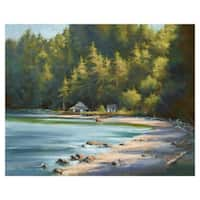 Hidden Beach Cove by David Marti Wrapped Canvas Painting Art Print