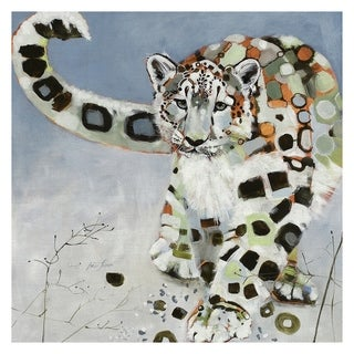 Masterpiece Art Gallery Snow Leopard Light Watercolor By Brenna Harvey Canvas Art Print
