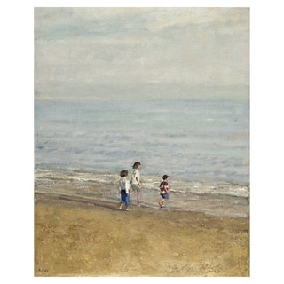 Masterpiece Art Gallery Games On The Beach Family Canvas Art Print