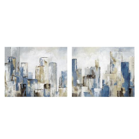 Masterpiece Art Gallery City Blues I & II by Nan Canvas Art Print Set of 2