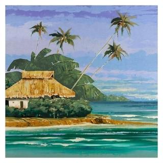 Masterpiece Art Gallery Tropical II Island Canvas Art Print