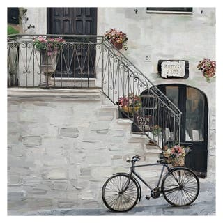 Masterpiece Art Gallery Bottega D'Arte Bicycle & Building By Studio Arts Canvas Art Print