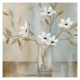 Link to Fine Art canvas White Flower Pastel Garden II by Carol Robinson Canvas Art Print Similar Items in Canvas Art