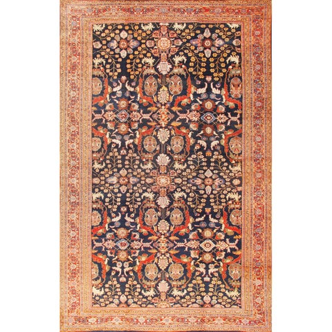 Antique Sultanabad Oversize Rug 12'x19' - 12' x 19'