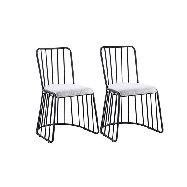 2 Piece Set Of Metal Frame Dining Chairs Free