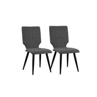 2 Linen Upholstered Dining Kitchen Chairs