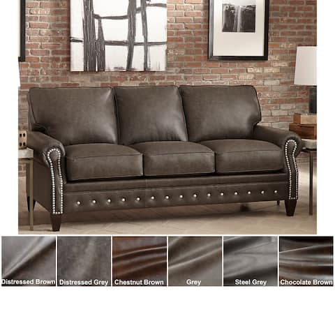 Payne Top Grain Leather Sofa Bed