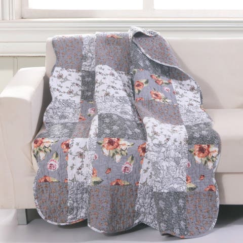 The Gray Barn Spring Arrow Reversible Quilted Throw Blanket