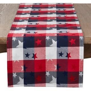 Saro Lifestyle Checkered Stars Design Table Runner