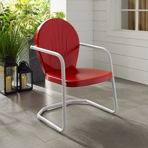 Howard Bay Metal Chair In Red Finish by Havenside Home