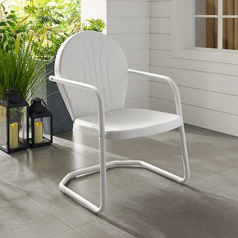 Howard Bay Metal Chair In White Finish by Havenside Home