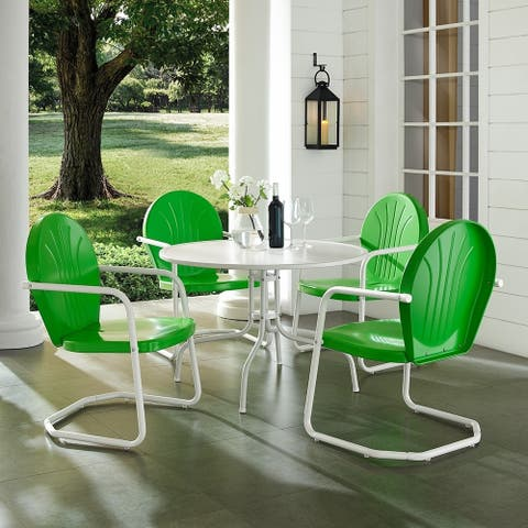 Howard Bay Metal 5-piece Outdoor Dining Set with 39-inch Table by Havenside Home