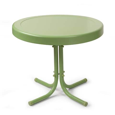 Retro Metal Side Table In Oasis Green