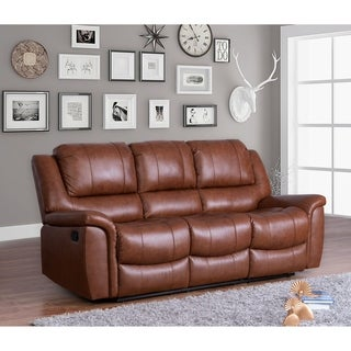Leather Ottoman With Pull Out Tray